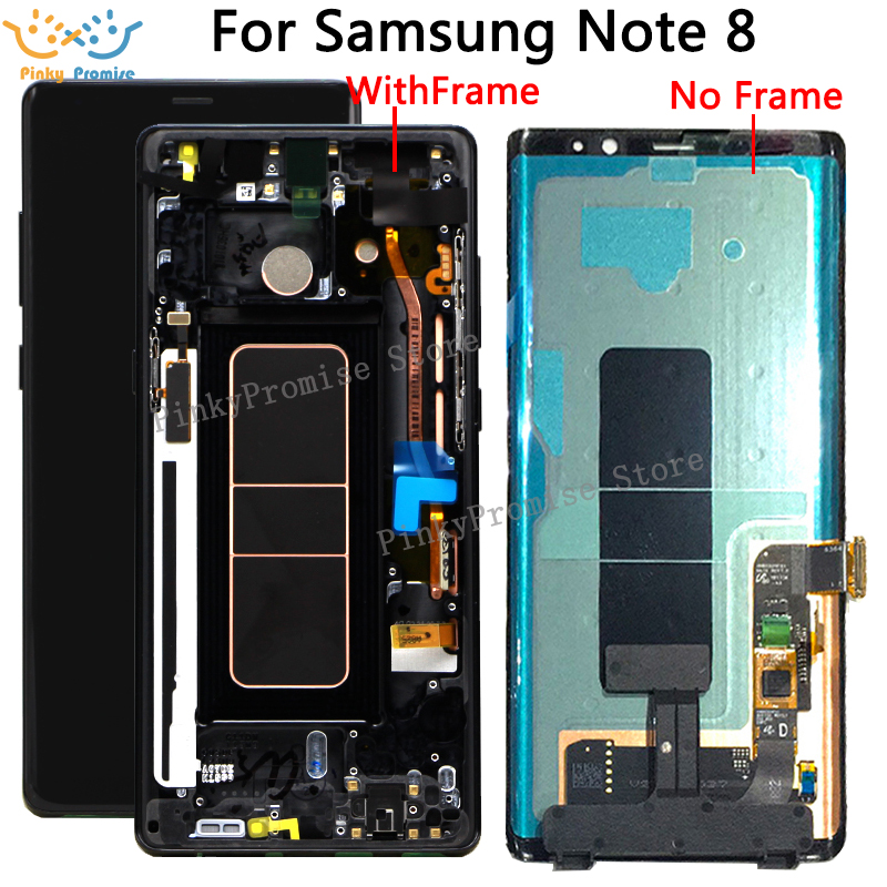Black Gold Purple Blue 6 3 Replacement LCD for SAMSUNG GALAXY Note 8 Note8 Display Touch