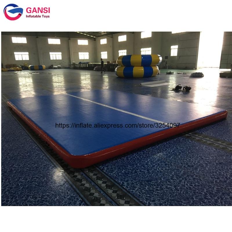 5*4*0.2 Factory gymnastics mat inflatable air track for sale,inflatable inflatable air tumble track for gym все цены
