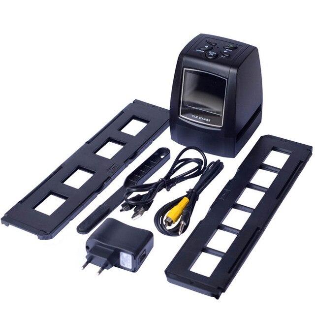 """MINI 5MP 35mm escáner de película negativa película de foto deslizante negativa convierte Cable USB LCD deslizante 2,4 """"TFT para foto"""