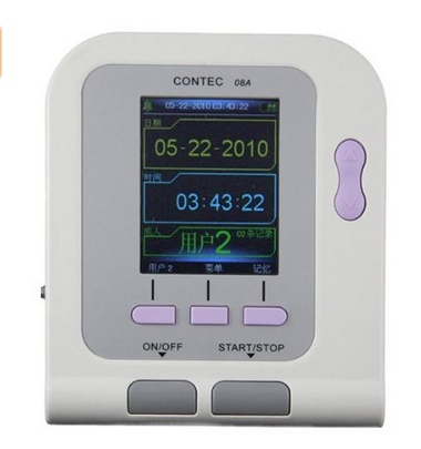 Digital Blood Pressure Monitor Upper Arm NIBP Software Adult cuff NIBP Oximeter Patient BP Monitor CONTEC08A for Animal BP abpm50 ce fda approved 24 hours patient monitor ambulatory automatic blood pressure nibp holter with usb cable