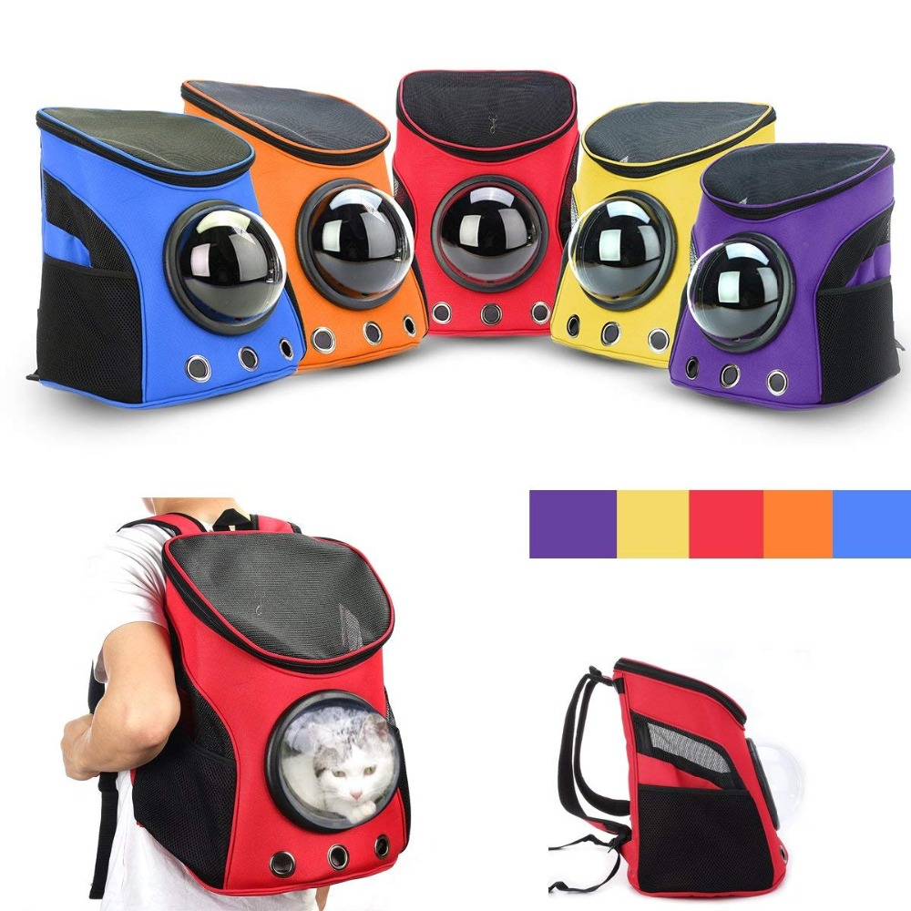 Dog Carriers Space Capsule Travel Bag For Small Dogs Cat Carrier Dog Carrying Breathable Shoulder Backpack Outdoor Portable Bag Pet Products