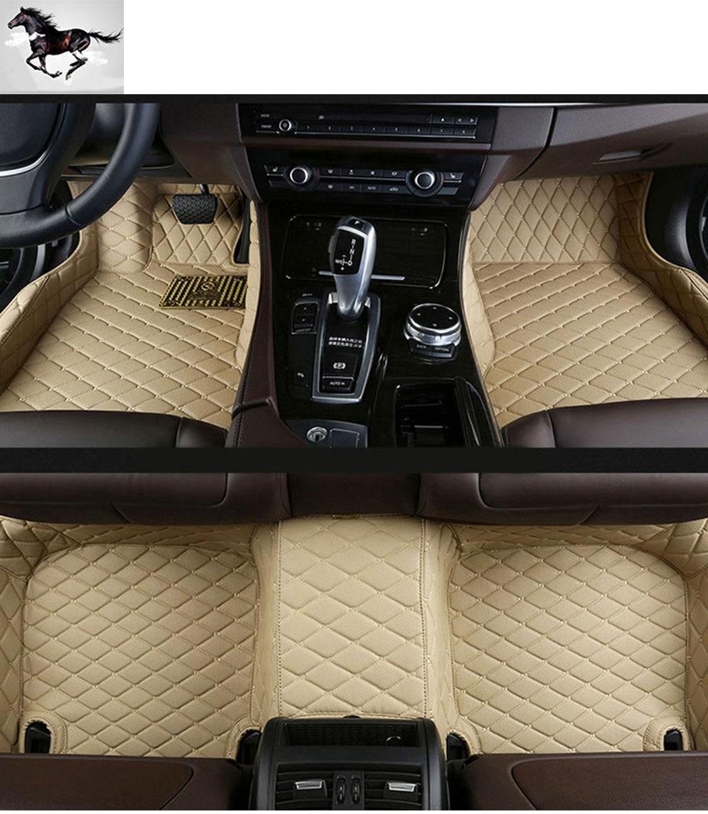 Q7 rubber floor mats - Topmats Set Car Floor Mats For Audi Q7 2016 2017 Waterproof Car Mats Leather 3d