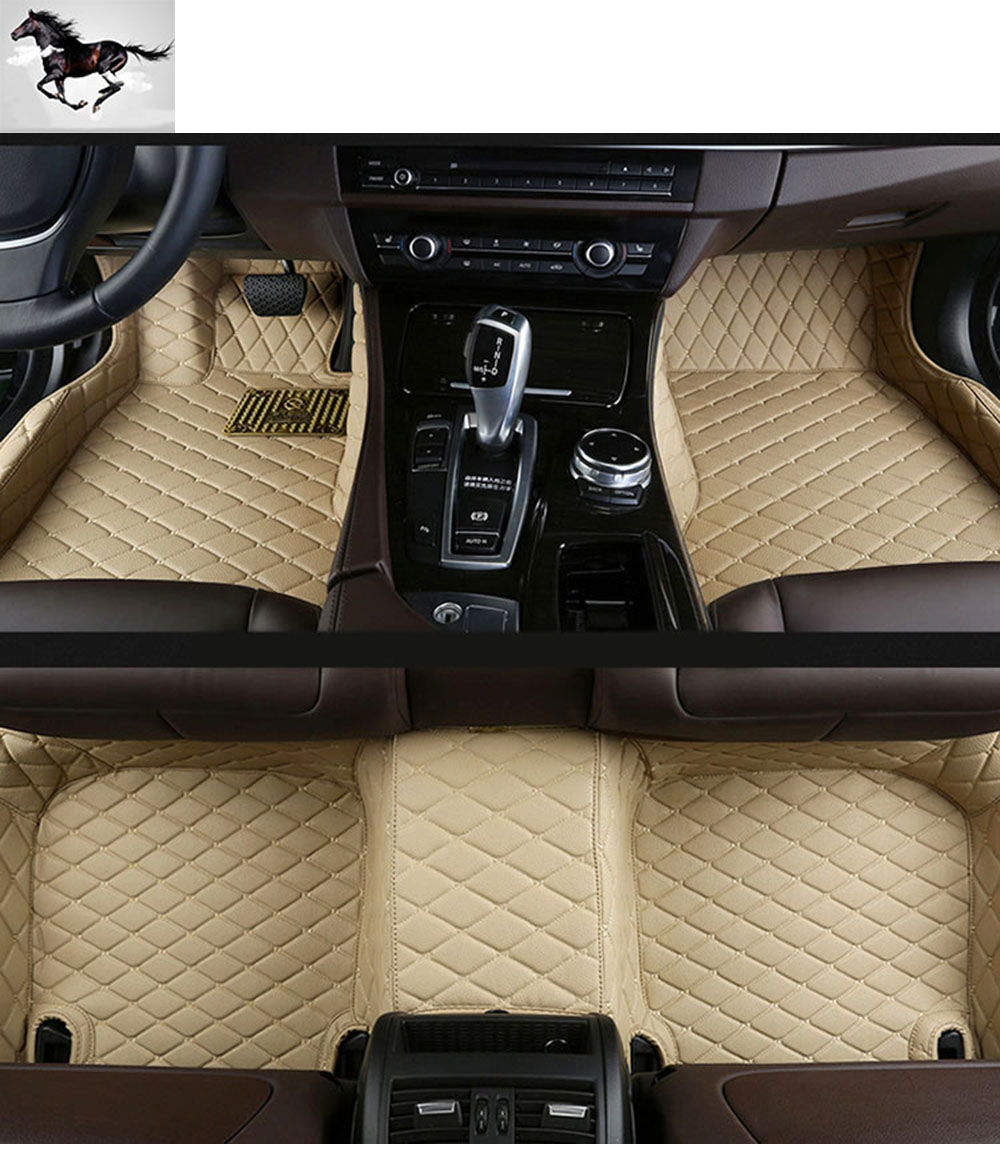 Rubber mats car - Topmats Set Car Floor Mats For Audi Q7 2016 2017 Waterproof Car Mats Leather 3d