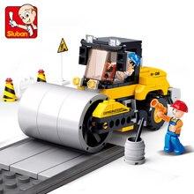 SLuban 171Pcs Engineering Drum Street Roller 3D Bricks Educational boy Building Blocks Toys