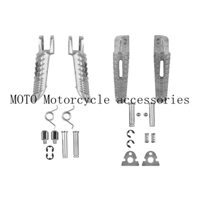 Aluminum Motorcycle Front & Rear Foot Peg Footrest For
