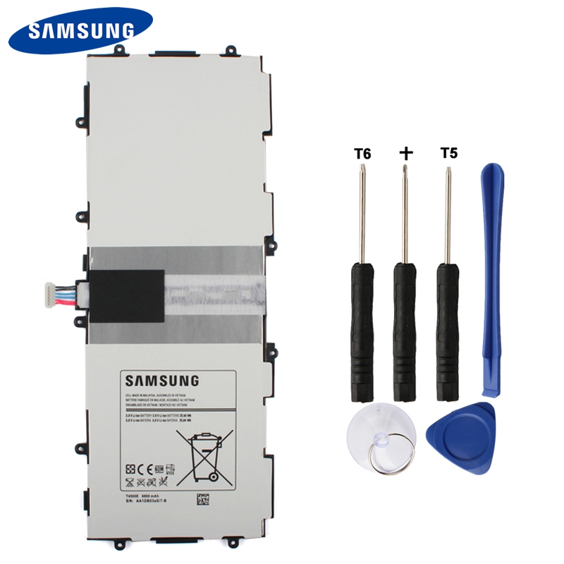 Original Samsung Battery T4500E For Samsung GALAXY Tab3 P5210 P5200 P5220 Genuine Replacement Tablet Battery 6800mAh