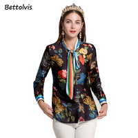 Bettolvis New Women Shirt Long Sleeve 2017 Spring Autumn Blouses Fashion Women Shirts Feminine Shirt XXL