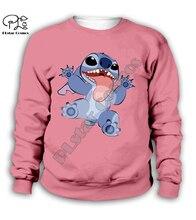 Anime boy girl clothing kawaii Lilo Stitch 3d print Kids Cartoon pink Hoodies/zipper/long sweatshirt/tshirt/casual shorts/pant anime cartoon lilo