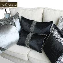 European-style luxury fabric black and grey Pillow case christmas  pillow Housewarming Gift free shipping