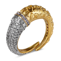 2016 New Unique Design Ring Copper Metal In Platinum And Gold Plated Setting With High Grade