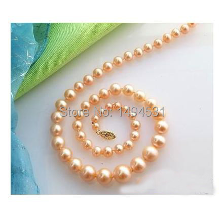 Wholesale Pearl Jewelry 17 Inches 6-12mm Pink Color Freshwater Cultured Pearl Necklace - Handmade Jewelry - XZN36Wholesale Pearl Jewelry 17 Inches 6-12mm Pink Color Freshwater Cultured Pearl Necklace - Handmade Jewelry - XZN36