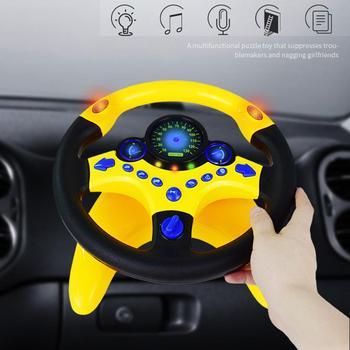 Juguete de simulación para niños, pequeño volante, copiloto de juguete de manejo simulado, juguete con sonido educativo temprano, juguete de regalo para chico