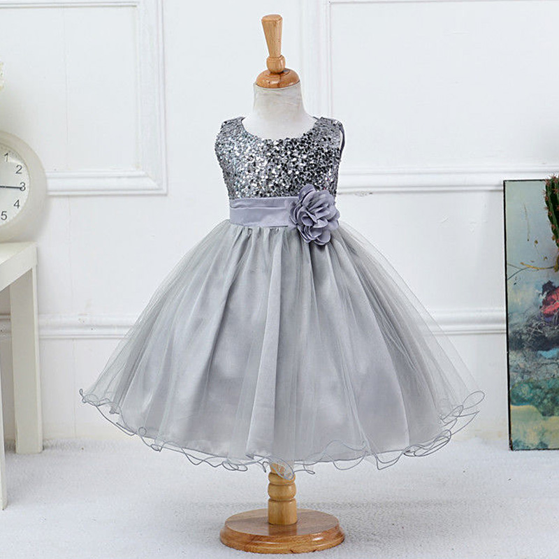 2017 Summer Baby Girls Cute Sequin Sleeveless Flower Princess Dress Toddler Kids Costume Clothes Dresses For Wedding Party Z2 new flowers summer toddler girls dress 2016 cute kids dresses for girls princess costume for party birthday baby girl clothes