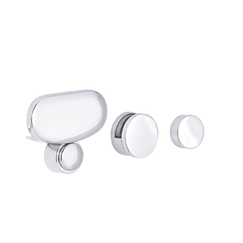 4 Pcs Bathroom Mirror Glass Mirror Hinger Fixed Accessories Advertising Plate Glass Clamp Fixed Clip Mirror Mirror Fixed Fitting