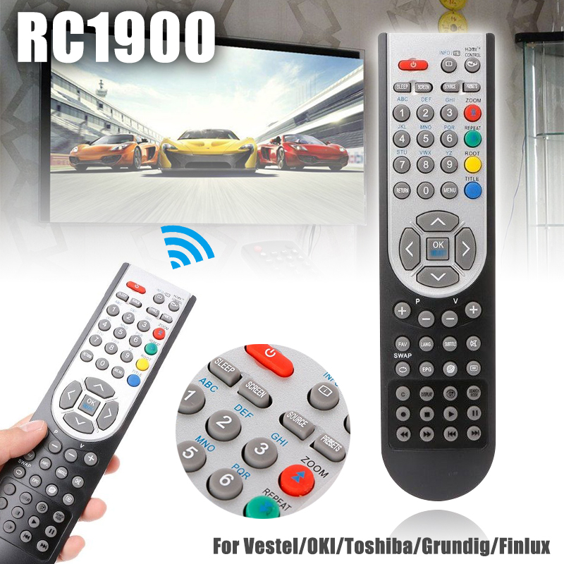 Mayitr 1pc RC1900 TV Remote Control Universal Replacement LCD TV Remotes For Vestel/OKI/Toshiba/Grundig/Finlux ...