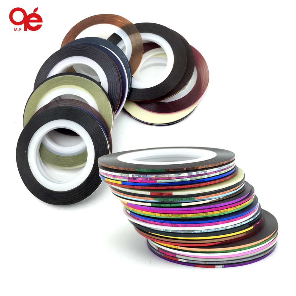 30 colors rolls striping tape line nail art sticker tools beauty decorations for on nail stickers 14 rolls glitter scrub nail art striping tape line sticker tips diy mixed colors self adhesive decal tools manicure 1mm 2mm 3mm