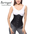 Steampunk Faux Leather Corsets Underbust Double Steel Bone Waist Corsets and Bustiers for women Waist Cincher Corselet