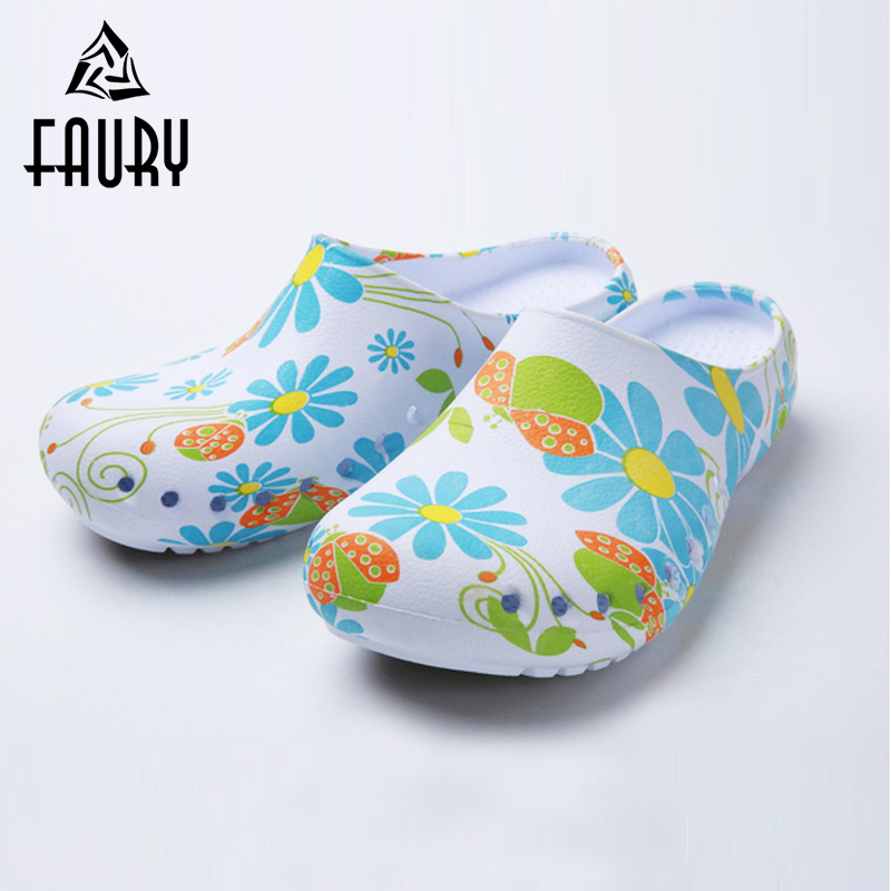 2018 Hospital Medical Supplies Doctor Nurse Surgical Shoes EVA Protective Cleanroom Shoes Anti-Acupuncture Non-slip Slippers