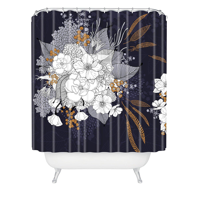 Winter shower curtain - Iveta Abolina Winter Blue Shower Curtain 72x72inches