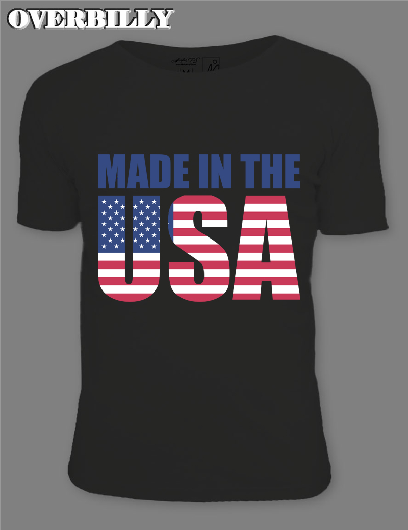 Design your own t shirt made in usa - Made In The Usa Letter Flag Printed Tshirt Men Pop Tee Diy Print Tshirt 2017 Fashion