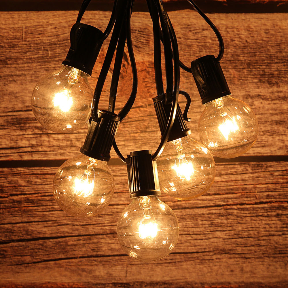Waterproof LED Garden Lawn lamp 25 LED Globe Bulb String lights Outdoor Patio Yard Landscape Wedding Christmas Decoration image