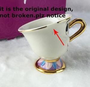 جديد الكرتون الجمال والوحش إبريق القدح السيدة بوتس رقاقة براد شاي كوب واحد مجموعة جميلة هدية الكريسماس سريع آخر