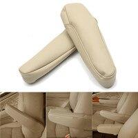 Beige PU Leather Armrest Cover Upholstery Set For Honda Odyssey 2005 2006 2007 2008 2009 2010