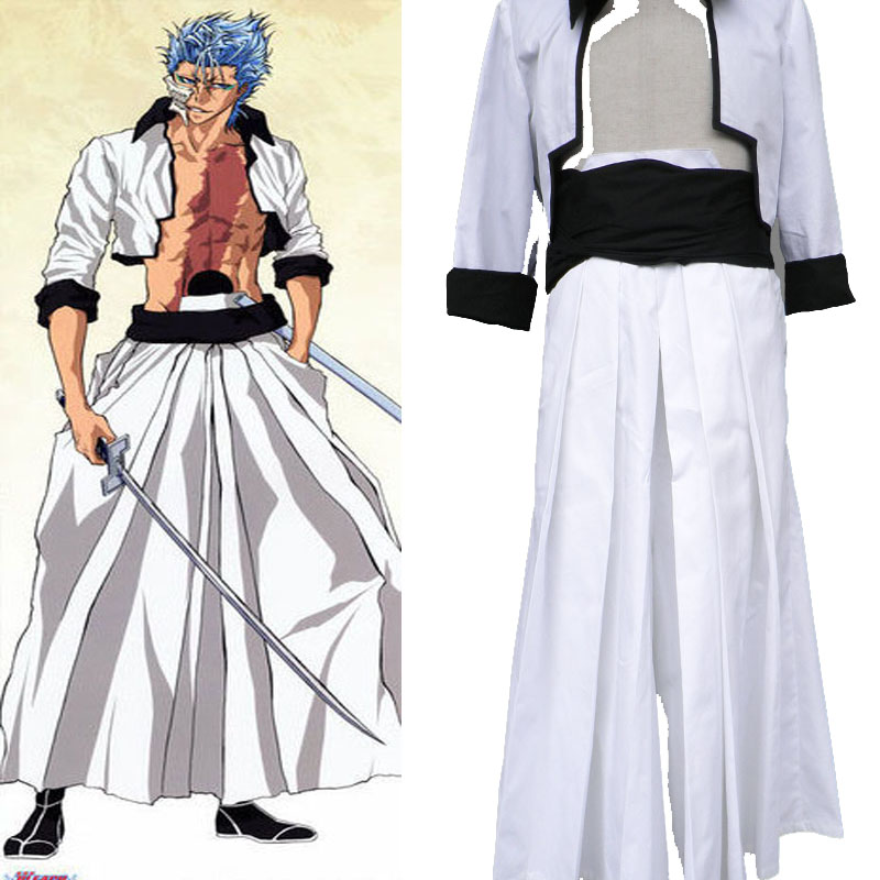 New Grimmjow Jaggerjack Death Bleach Halloween cosplay costume Accessories Full Suit