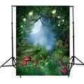 Сказка Мир Зеленый Лес 5x7ft Фотография Фон Для Студия Фотография Реквизит винил Фото Фонов 1.5x2.1 м