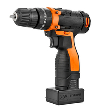 12V/25V MAX Cordless Drill 3000mAh Battery 150 min of use,Electric Screwdriver 18+1 2-Speed  with 4pcs Drillr Bits