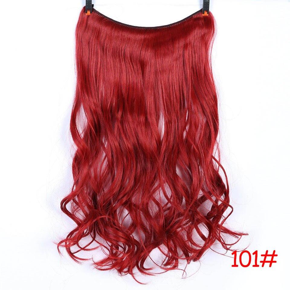 """SHANGKE 2"""" флип-на проволоке в синтетическом скрытом невидимом не клип в головном повязке прямые высокотемпературные волокна для наращивания волос - Цвет: #24"""
