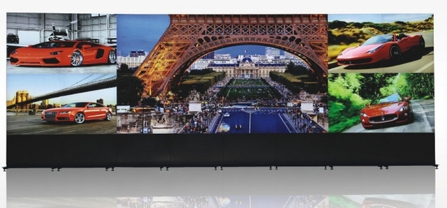 28X98m CCTV video wall 7680x21604x8 55 LG Panel transparent