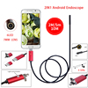 Red 2IN1 Android Endoscope Waterproof Inspection 6LED 7MM Lens Micro USB Borescope Video Tube Pipe USB