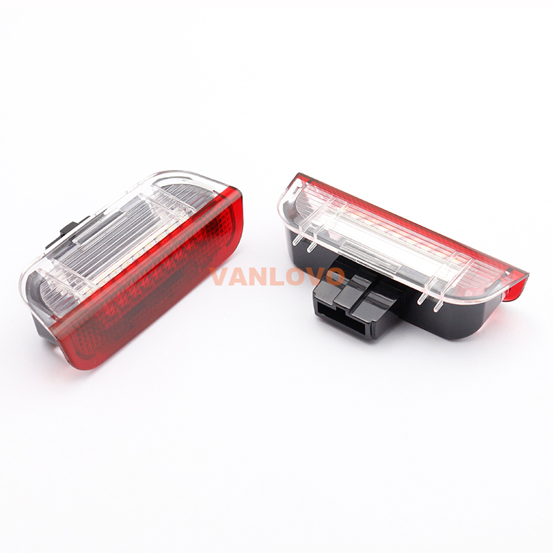 18-SMD LED Courtesy Step Side Door Light for VW Golf Jetta Passat Sharan Touareg EOS Scirocco 18 smd led courtesy step car door light no error for vw golf 4 5 6 scirocco tiguan passat jetta touareg skoda fabia octavia