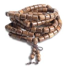 Wenge Prayer Beads 108 Tibetan Buddhist Cylindrical Bracelet Men Wooden Jewelry Accessories Mala Bracelets Bangles