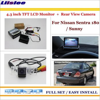 Auto Camera For Nissan Sentra 180 Sunny Car Reverse Back up Rear Camera 4.3 TFT LCD Monitor Screen Rearview Parking System image