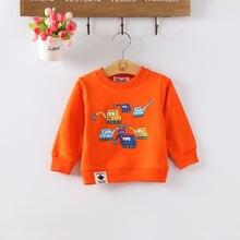 Diimuu Осенняя Толстовка для маленьких мальчиков и девочек пуловер