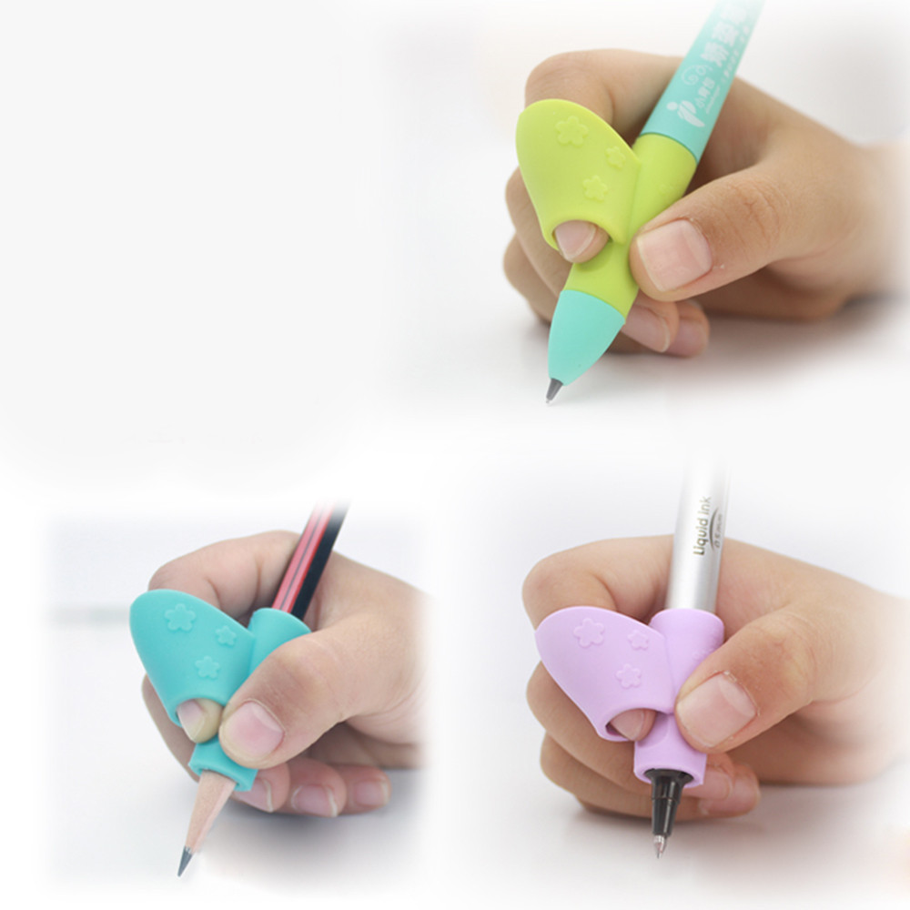 3PCS/Set Children Pencil Holder Pen Writing Aid Grip Posture Correction Tool New Dropshipping Sep19