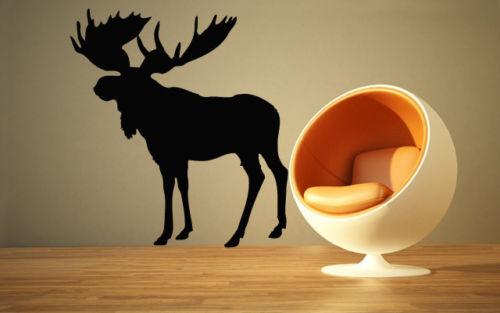 Elk Deer Animal Forest Hunting Mural Wall Art Decor Vinyl Sticker