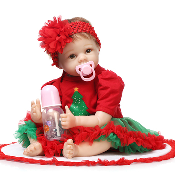 NPK New Reborn Baby Dolls 22inch 55CM Silicone Christmas gift toy dolls Bebe princess toddler lol toys  brinquedos For Girls