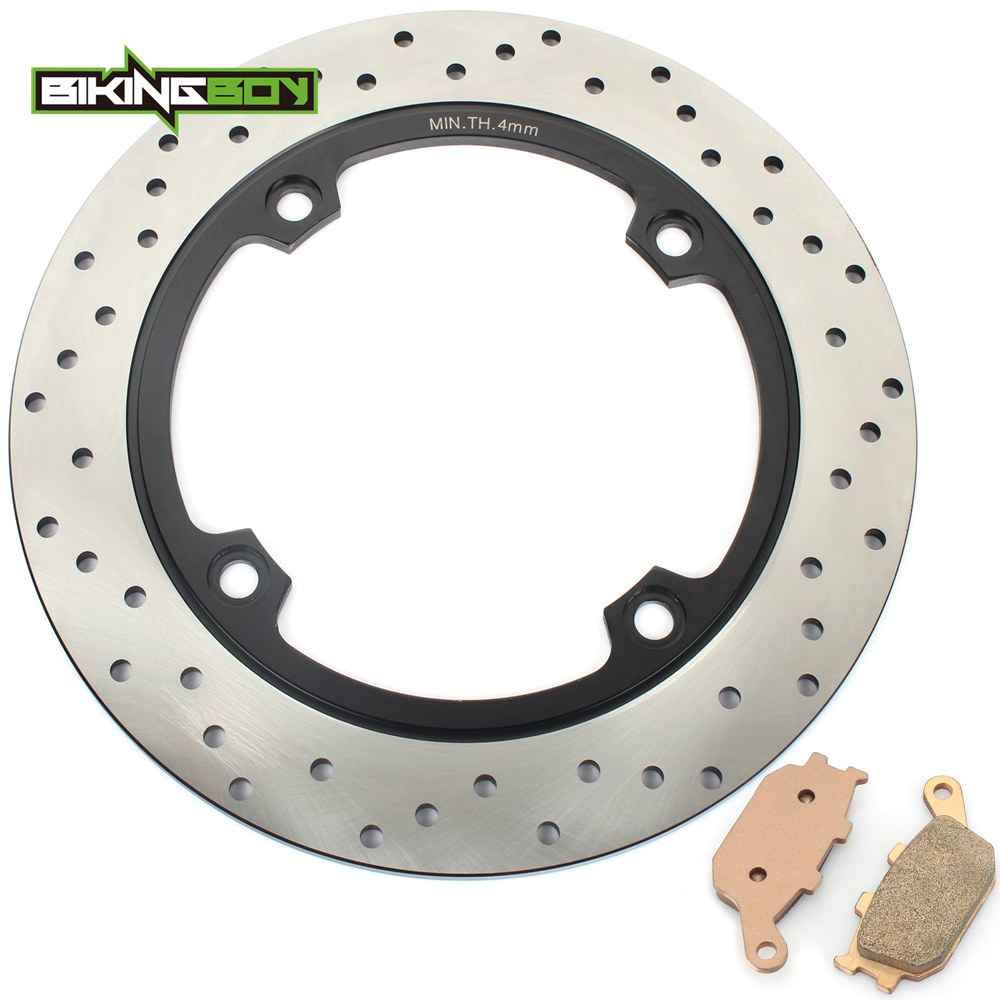 BIKINGBOY Rear Brake Disc Rotor Disk + Pads <font><b>DL</b></font> 650 <font><b>V</b></font>-<font><b>Strom</b></font> 04-10 <font><b>DL</b></font> 650 ABS / Traveller 07-10 <font><b>DL</b></font> <font><b>1000</b></font> 02-09 08 2007 06 05 04 03 image