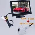 Barceen 5 дюймов Автомобиль Зеркало Заднего Вида Монитор Камера Заднего вида CCD Видео Автопарк Помощь Ночного Видения Заднего Вида Автомобиля укладки
