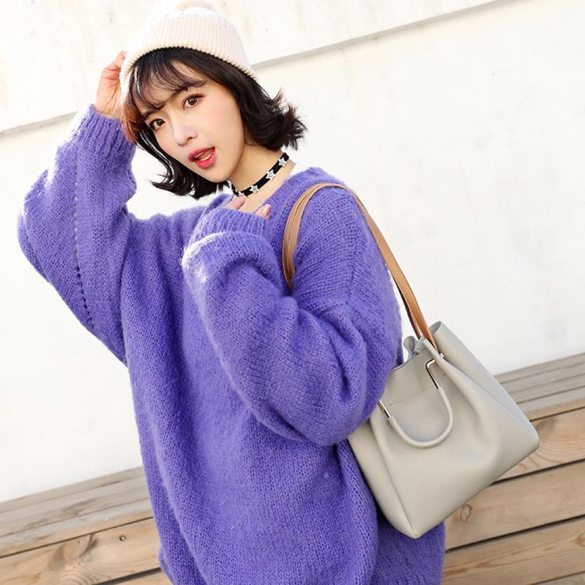 Для женщин модные простые ведро сумочка дамы сплошной цвет пряжки сумка # F