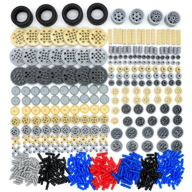 650 pcs Technic Gear Set blocs de construction poulie Rack broche Cog connecteur voiture en vrac MOC brique jouet Compatible LegoINGlys Technic pièces