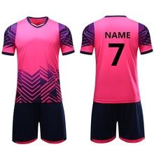 Survetement/футбольные футболки для мальчиков и девочек; Детские Молодежные футбольные комплекты; тренировочный костюм из джерси; спортивный комплект; одежда с принтом на заказ