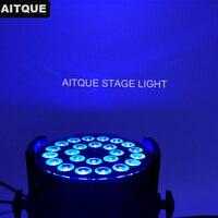 8 los Bühne dj par 24x18 watt led par 64 rgbwa uv par led 6 in 1 innen led par licht uv