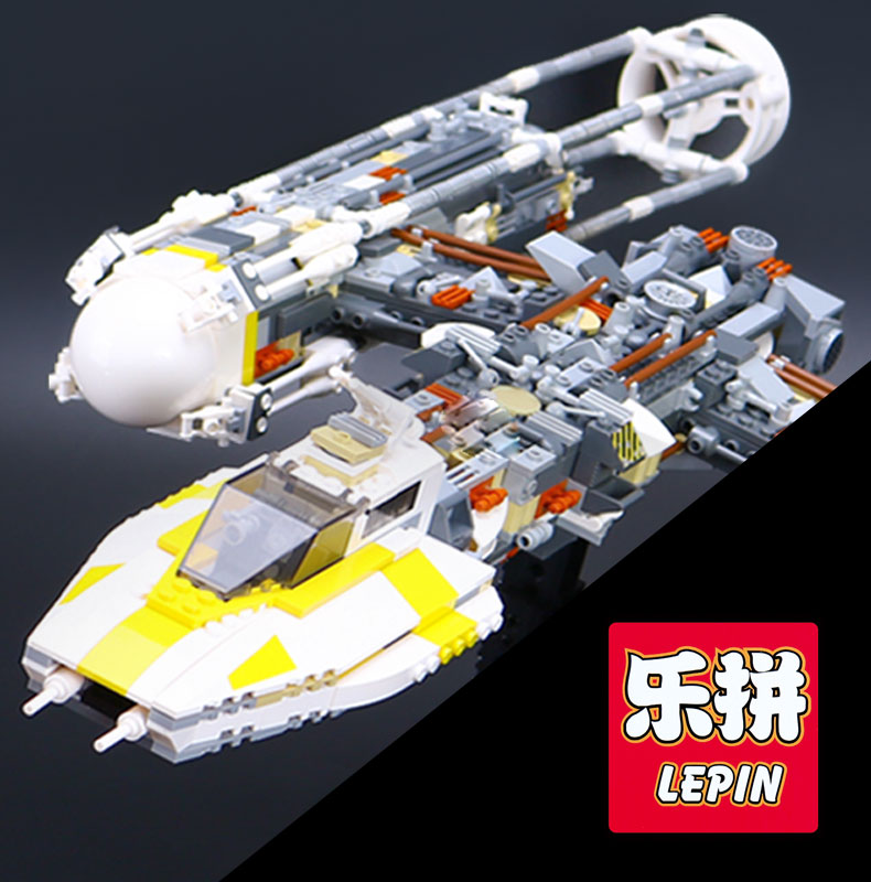 LEPIN 05040 Star Series Y toy wing set Attack fighter Educational Building Block Assembled Brick Compatible with War Toys 10134 lepin 05040 star series wars y star wing attack fighter building assembled block brick diy toy educational gift compatible 10134