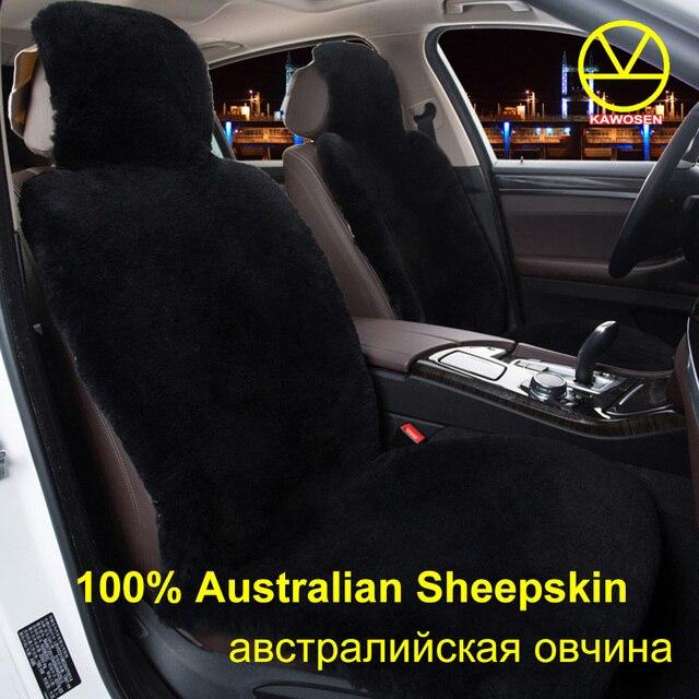 KAWOSEN Australian Sheepskin Fur Seat CoverSuper Warm Universal Car Cover 100