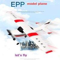Wltoys F949 CESSNA 182 3 Channel 2.4G Control Airplane RC Airplane EPP Model Plane RTF 3 Coreless Motor Outdoor Drone Kids FSWB