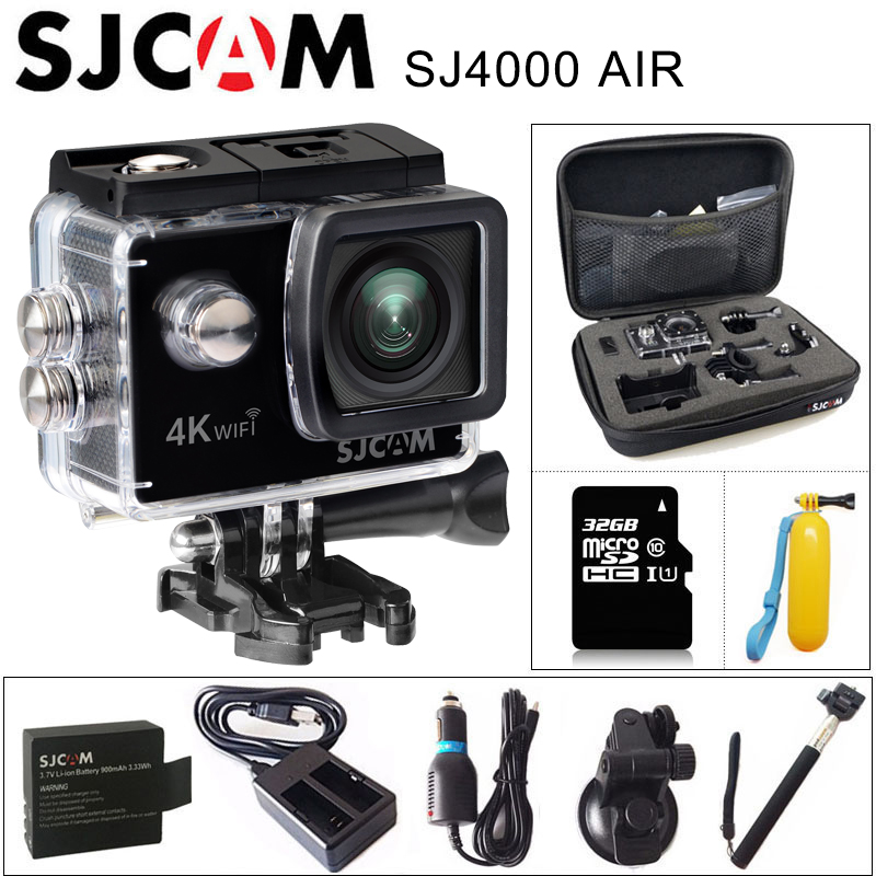 Оригинальный SJCAM SJ4000 AIR 4 K действие Камера Full HD Allwinner 4 K 30fps WI-FI 2,0 Экран мини шлем Водонепроницаемый Спорт DV Камера